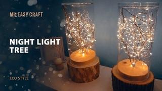 DIY\ how to make a night light \ lamp \ glowing tree