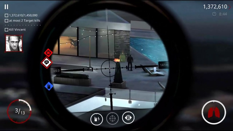 Hitman Sniper Get a score of 1,450,000 and killing at most 2 high profile targets.