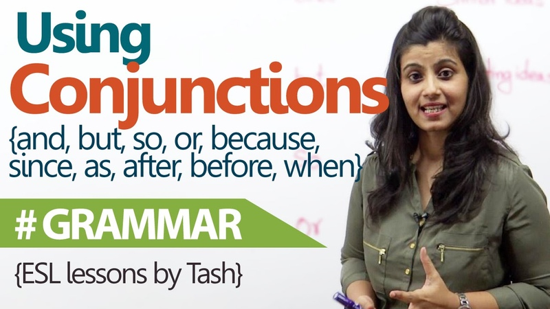 English Grammar lesson Using Conjunctions correctly in sentences free English Lessons