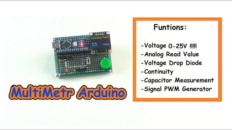 How to Make MultiMeter Arduino nano and Display i2c OLED 0 96
