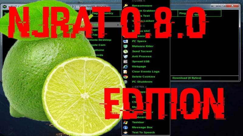 NjRat 0 8 0 Lime Edition ОБЗОР И НАСТРОЙКА ВИРУСА УДАЛЁННОГО ДОСТУПА