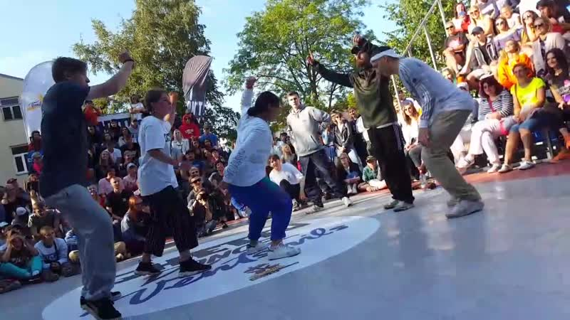 FINAL. Ghetto Dance Ventspils 2019 - Lola, Alvis, Dayana vs Kalashnikoff (Squaker, Heorhi, x_x) / Ben Wichert as judge