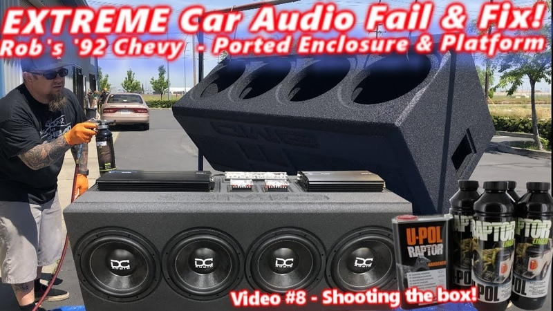 Extreme Car Audio FAIL Fix Bucket o' BASS Chevy 4 12 Subs Ported Box Platform DONE Video 8