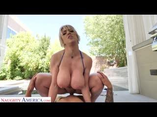 Похотливая зрелая мама трахает сына у бассейна, milf sex porn mature son pov busty mom tit boob ass doggy cum hd (hot&horny)