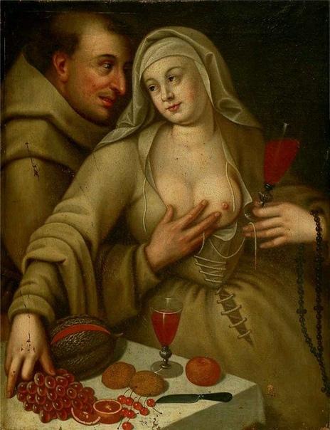 Картина «Монах и монахиня», Cornelis van Haarlem 1591 года.