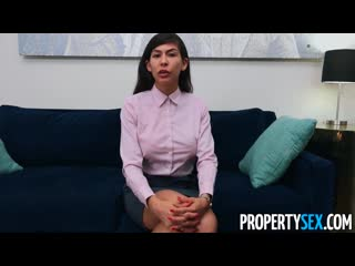 Propertysex factory worker impressed by real estate agent's offer