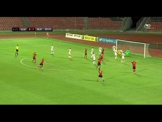 Gentian Selmani (albanian goalkeeper) scores a goal in the last minute against Belarus
