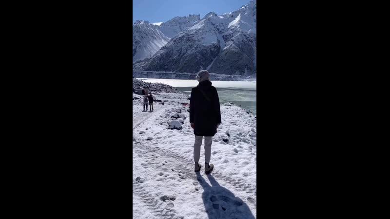 Ледник Тасмана в Новой Зеландии ❄️🌏