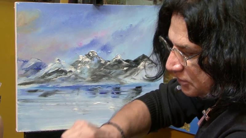 Cómo pintar un paisaje Pintura al óleo Parte 1