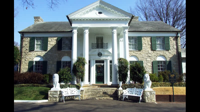 Дом Элвиса Пресли Поместье Грейсленд Мемфис штат Теннесси Elvis Presleys house at Graceland