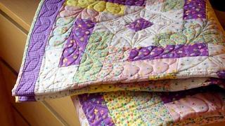 """Пэчворк - блок """"Круг назад"""". Шьем простое лоскутное покрывало для кроватки (+размеры)"""