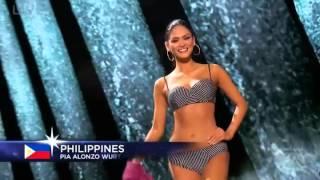 Miss Universe 2015 Pia Alonzo Wurtzbach Swimsuits Competition