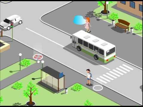ПДД. Правила для школьников. Правила для пешеходов. Развивающий мультик в виде игры.