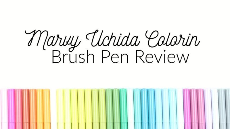 Marvy Uchida Colorin Brush Marker Review for Handlettering