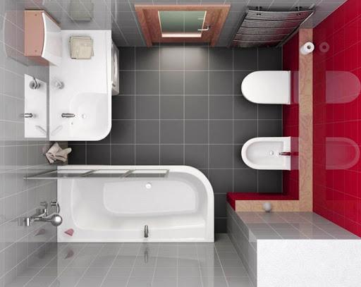 Грамотная планировка ванной комнаты небольшой площади Авантстрой Новосибирск