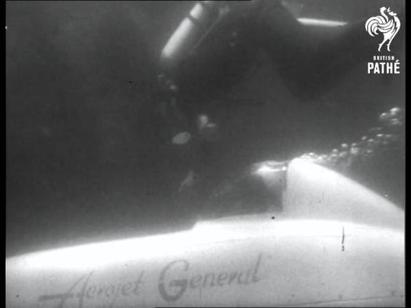 Selected Originals News Flashes One Man Submarine 1953