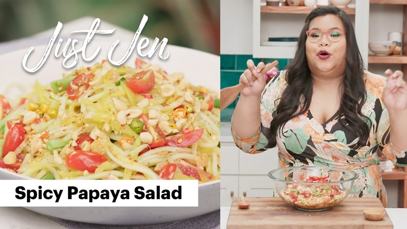 This Spicy Papaya Salad Will Steal the Show   Just Jen