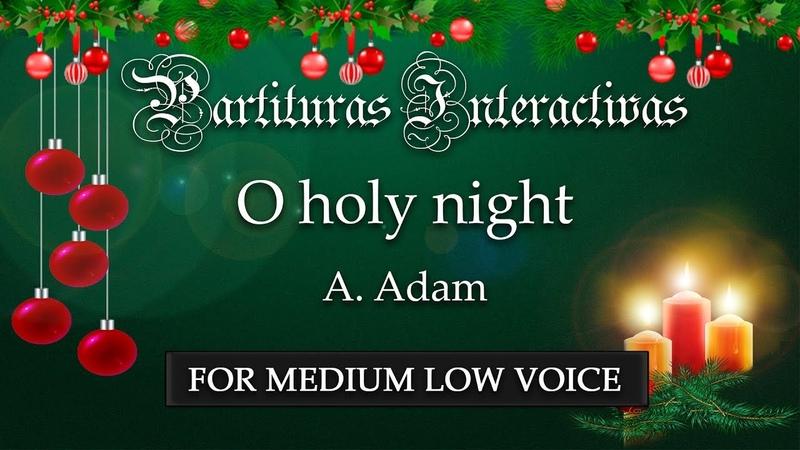 Cantique de Nöel (O holy night) KARAOKE FOR MEDIUM LOW VOICE - A. Adam - Key: B-Flat Major