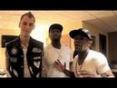 Floyd Mayweather 50 Cent and Machine Gun Kelly