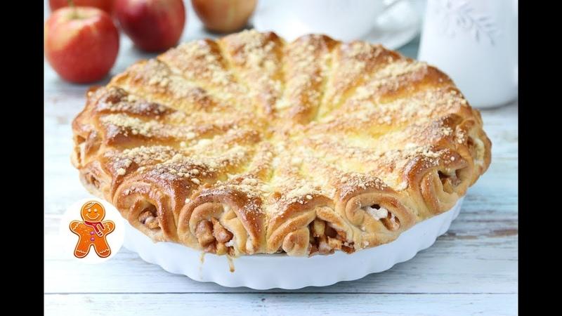 Слоеный Яблочный Пирог Яблочные Рожки ✧ Apple Horns Pie (English Subtitles)
