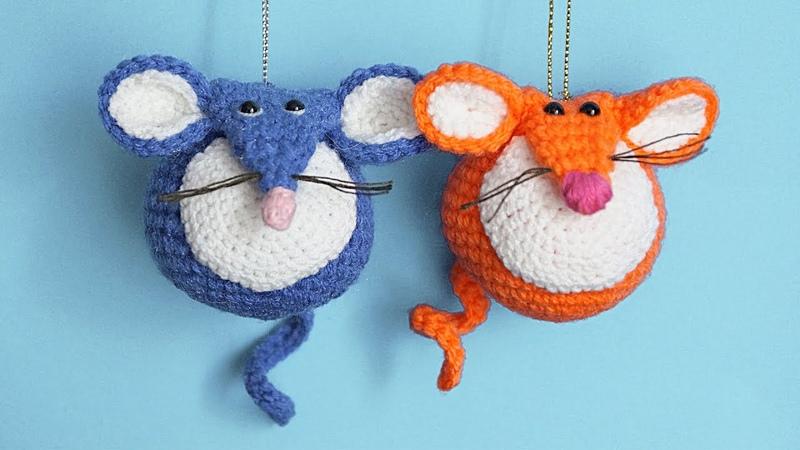 МК Мышешарик Вязаная мышка крючком подробное описание игрушки Crochet Toy Mouse Tutorial