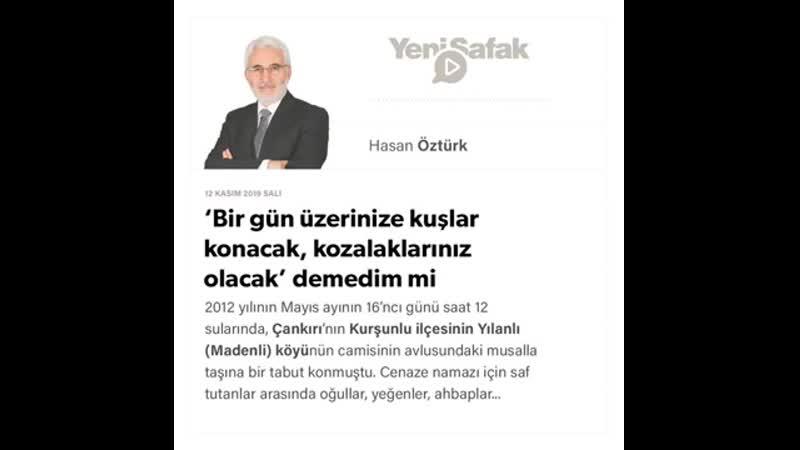 081. Hasan Öztürk - 'Bir gün üzerinize kuşlar konacak, kozalaklarınız olacak' demedim mi - 12.11.2019.mp4