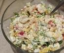 #салат #сытныйсалат #праздничныйсалат #салатсморепродуктами #рецептсалата