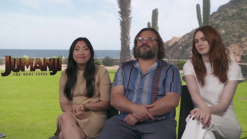 Awkwafina Jack Black Karen Gillan Raw Interview Jumanji The Next Level