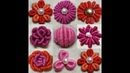 245-Different type of flowers with bullion knot stitch with subtitles(Hindi Urdu)