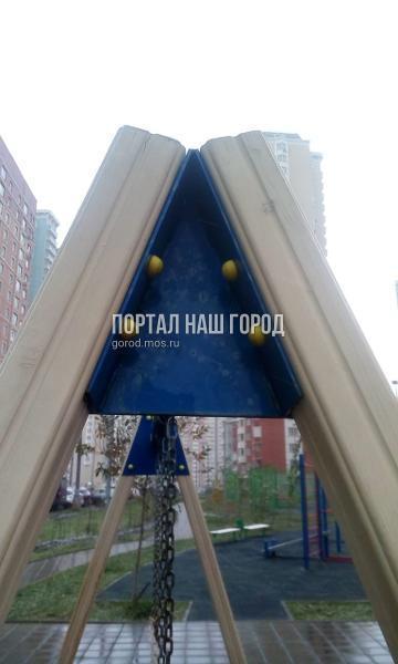 Детская площадка на Недорубова снова стала комфортной для игр