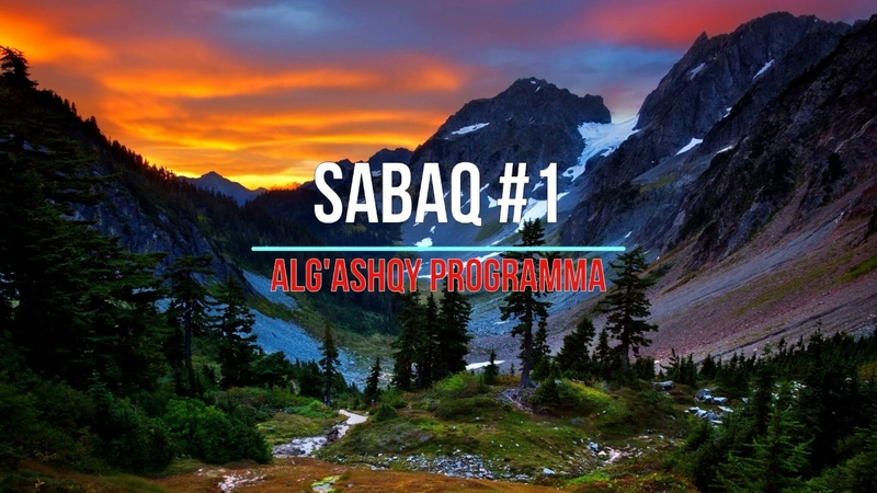 C Sabaq 1 qazaqsha C Урок №1 на казахском C Сабақ №1 қазақша Alǵashqy programma