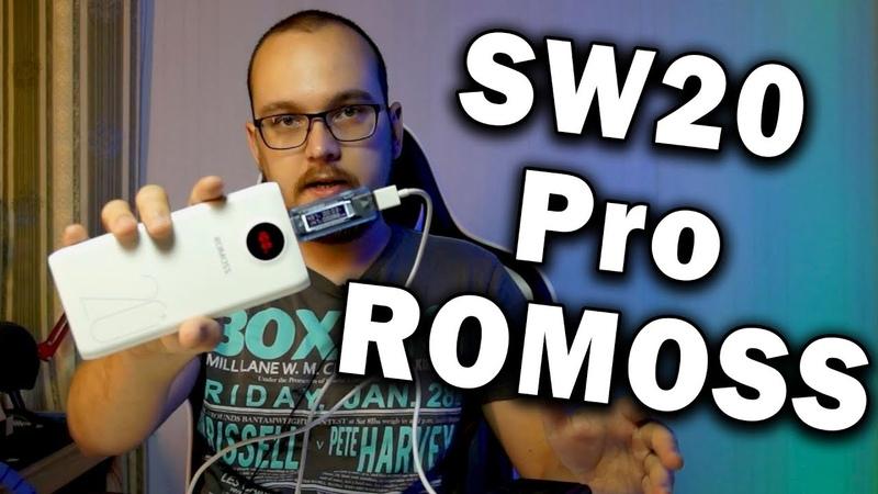 ROMOSS SW20 Pro 🔋 Уникальный повер банк алиэкспресс QC3 0 быстрая зарядка поддержка всех шнуров
