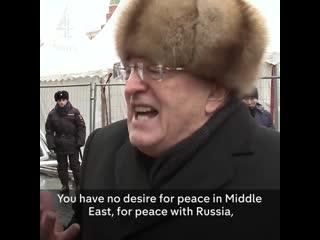 Vladimir zhirinovsky in englishdont vote for vicious hillary clinton, trump = world peace