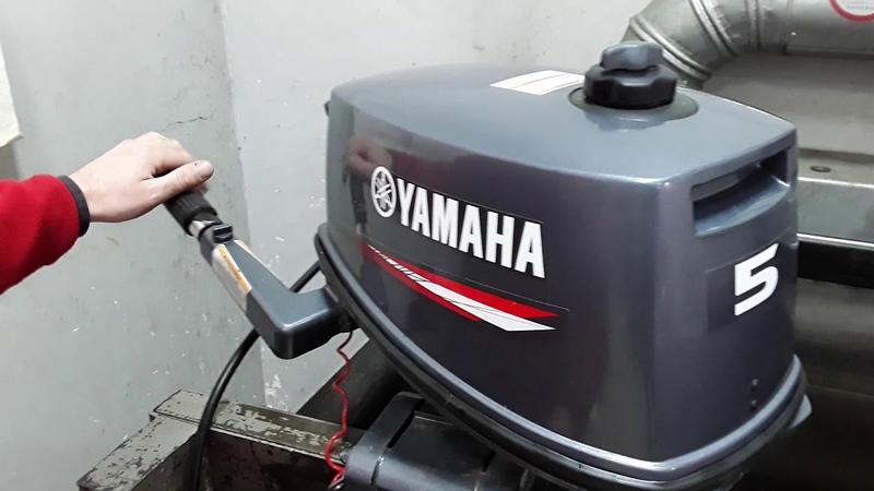 2 х тактный мотор Yamaha 5 л с в отличном состоянии Подвесной лодочный мотор ямаха