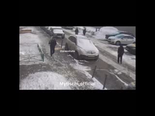 Видео с момента расстрела бизнесмена на Борисовке
