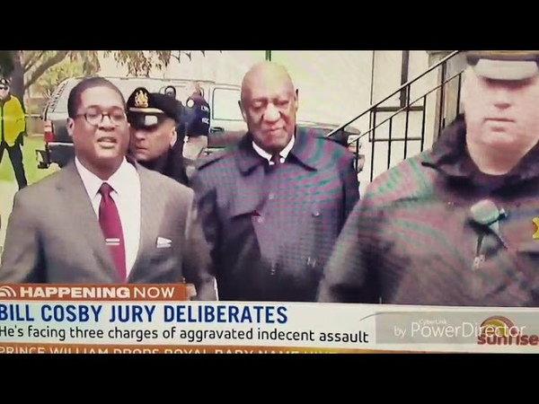 Bill Cosby leaving court.
