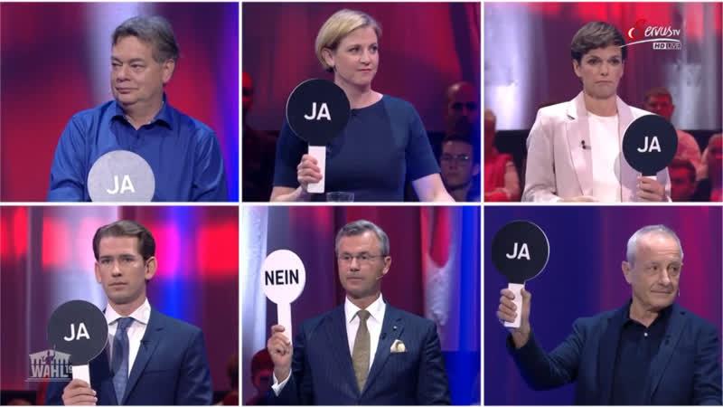 Wahl 19 - Die Privat-TV Elefantenrunde - Servus TV