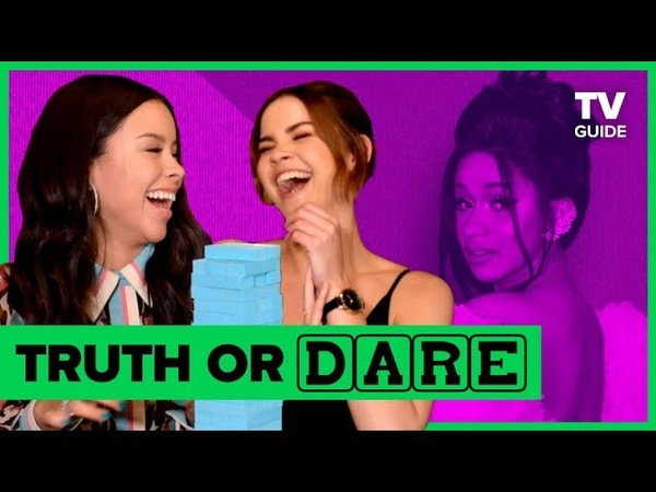 Good Troubles Maia Mitchell and Cierra Ramirez Play Truth or Dare Jenga