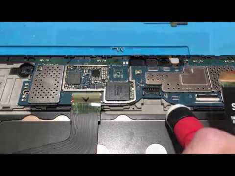 Samsung T805 перезагружается выключается Замена EMMC флеш