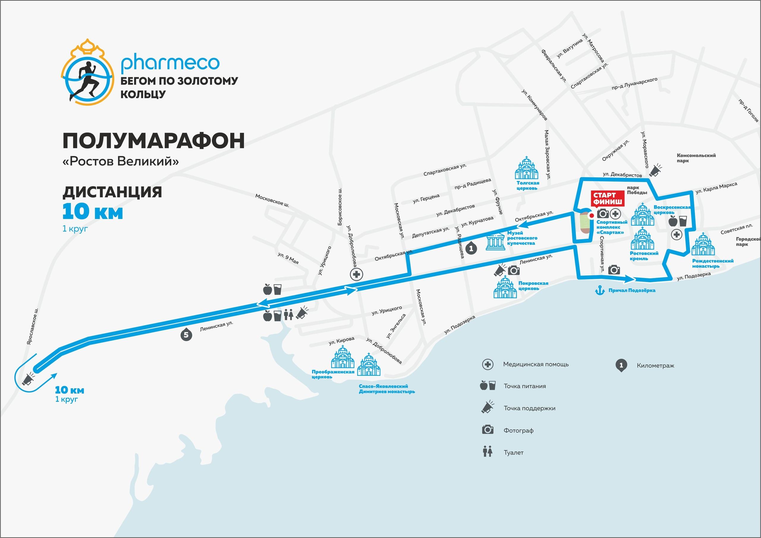 10 км. Полумарафон Ростов Великий 2019