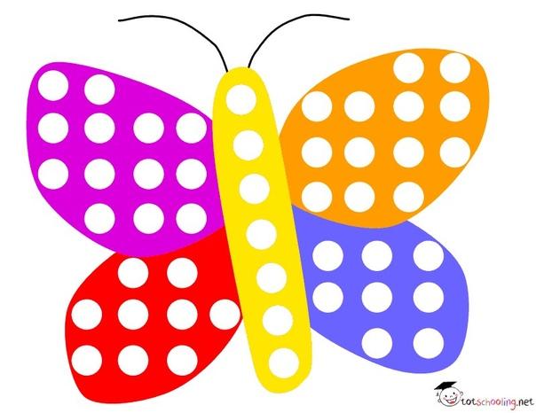 РИСУНКИ-ШАБЛОНЫ ДЛЯ ДЕТСКОГО ТВОРЧЕСТВА Пустые кружочки необходимо закрасить или залепить пластилином, подбирая цвета. К каждому рисунку прилагается ч/б вариант, который можно раскрасить по