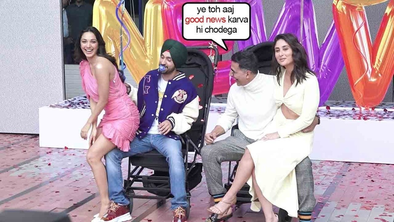 Kiara Akshay Kareena Daljit Dosanjh's Unblivable Comedy ENTRY @Good Newz Trailer Launch