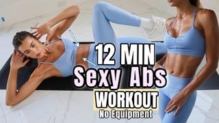 12 MIN Sexy Six Pack Abs Routine // No Equipment // Sami Clarke