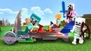 Майнкрафт видео сборник - Машинка для Стива и Алекс! Как победить мобов Видео игры Майнкрафт Лего.