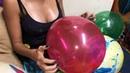 Hott Girl ASMR Popping Glitter Filled Balloons Drawing On Balloons Glitter Shaking 4k