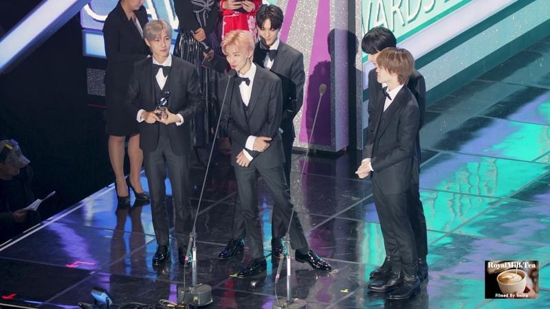 200108 NCT DREAM 엔시티 드림 수상 소감@제9회 가온차트 뮤직 어워즈 GAONCHART MUSIC AWARDS