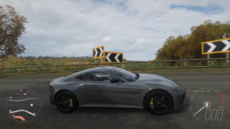 Forza Horizon 4 Aston Martin Vantage (Steering Wheel Paddle Shifter) Gameplay