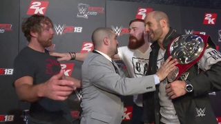Dean Ambrose & Seth Rollins nearly brawl with Sheamus & Cesaro at WWE 2K18 event