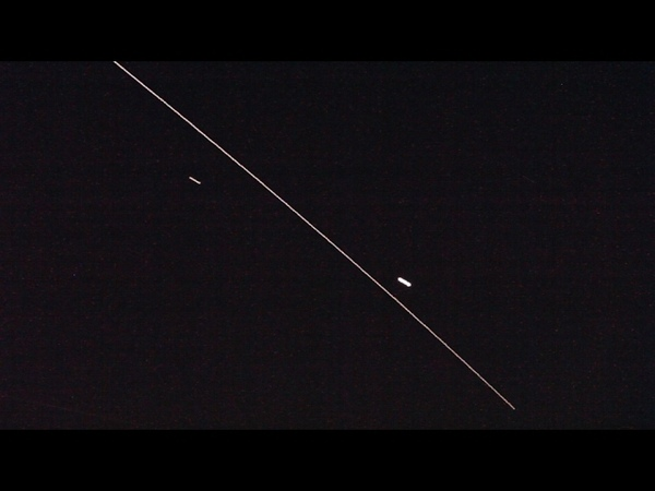 Пролёт МКС 06 02 2017 между Венерой и Марсом в небе над Москвой