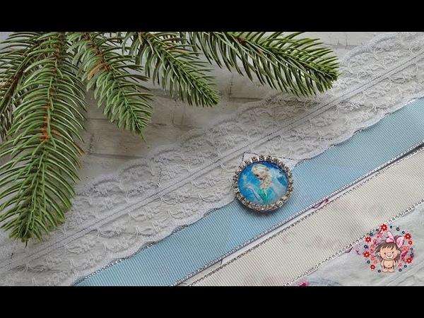 Зимние бантики с интересным лепестком Канзаши МК Winter bows with an interesting petal Kanzashi MK